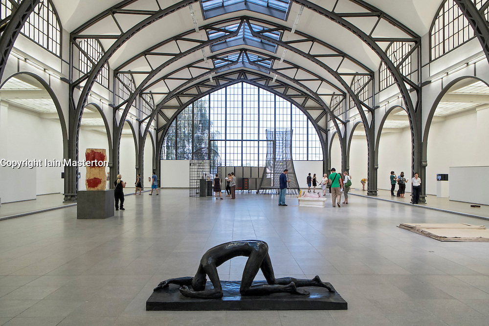 Sculptures in Body Pressure Exhibition at Hamburger Bahnhof Art Museum in Berlin Germany
