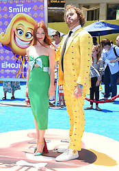 July 23, 2017 - Westwood, California, U.S. - T.J. Miller and Kate Gorney arrives for the premiere of the film 'The Emoji Movie' at the Regency Village theater. (Credit Image: © Lisa O'Connor via ZUMA Wire)