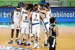 Players of Boulogne Metropolitans 92 celebrate after winning during basketball match between KK Partizan NIS Belgrade (SRB) and Boulogne Metropolitans 92 (FRA) in Top 16 Round 6 of 7DAYS Eurocup 2020/21, on March 10, 2021 in Arena Stozice, Ljubljana, Slovenia. Photo by Vid Ponikvar / Sportida