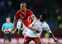 Fotball<br /> Tyskland<br /> Foto: Witters/Digitalsport<br /> NORWAY ONLY<br /> <br /> 01.10.2009<br /> <br /> v.l. Douglas da Silva, Jonathan Pitroipa HSV<br /> <br /> Europa League Hamburger SV - Hapoel Tel Aviv