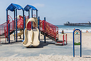 Children's Playground on the Beach at Oceanside Municipal Pier