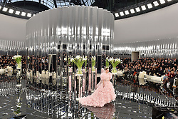 Lily-Rose Depp walks on the runway during the Chanel Haute Couture Spring Summer 2017 shows as part of Paris Fashion Week on January 24, 2017 in Paris, France. Photo by Laurent Zabulon/ABACAPRESS.COM