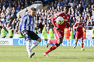 Sheffield Wednesday striker Gary Hooper (14) scores a goal 3-0 during the Sky Bet Championship match between Sheffield Wednesday and Cardiff City at Hillsborough, Sheffield, England on 30 April 2016. Photo by Ellie Hoad.