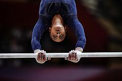 November 2, 2018 - Doha, Qatar - Rebecca Downie of Great Britain   during  Uneven Bars for Women at the Aspire Dome in Doha, Qatar, Artistic FIG Gymnastics World Championships on 2 of November 2018. (Credit Image: © Ulrik Pedersen/NurPhoto via ZUMA Press)