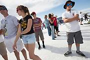 Image of spectators at the World of Speed, Bonneville Salt Flats, Utah, American Southwest by Randy Wells
