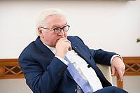 02 FEB 2021, BERLIN/GERMANY:<br /> Frank-Walter Steinmeier, Bundespraesident, waehrend einem Interview, Robert-Blum-Saal, Schloss Bellevue<br /> IMAGE: 20210202-01-017<br /> KEYWORDS: BUndespräsident
