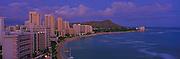 Sunset, Waikiki, Oahu, Hawaii<br />