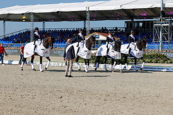 Team Germany, Werth Isabell, Von Bredow-Werndl Jessica, Schneider Dorothee, Langehanenberg Helen<br /> European Championship Dressage - Hagen 2021<br /> © Hippo Foto - Dirk Caremans<br /> 08/09/2021