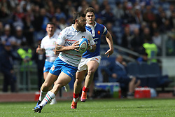 March 16, 2019 - Rome, RM, Italy - Jayden Hayward of Italy during the Six Nations International Rugby Union match between Italy and France at Stadio Olimpico on March 16, 2019 in Rome, Italy. (Credit Image: © Danilo Di Giovanni/NurPhoto via ZUMA Press)