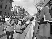 St Patrick's Day Parade.1982.17/03/1982.03.17.1982.The Lord Mayor, Alderman Fitzgerald, meets and greets the state troopers.