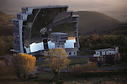 The world's largest solar furnace in the French Pyrenees. Odeillo Font-Remu, France.