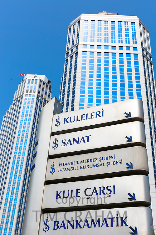 Sisecam glassmakers science and technology center in Levent, financial business district, Istanbul, Turkey