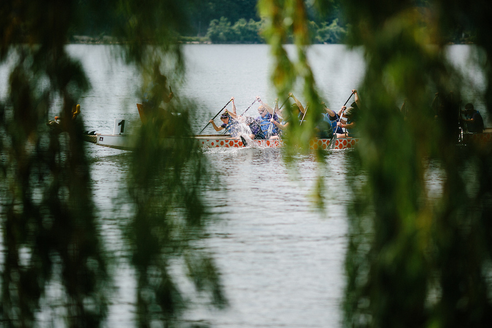 POUGHKEEPSIE, NY - JULY 25: The 2nd Annual Dutchess Dragon Boat Race and Festival takes place at the Marist College Boathouse on July 25, 2015 in Poughkeepsie, New York. (PHOTO CREDIT: EricMTownsend.com)