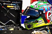 14-15 September, 2012, Fontana, California, USA.Graham Rahal's (38) helmet .(c)2012, Jamey Price.LAT Photo USA