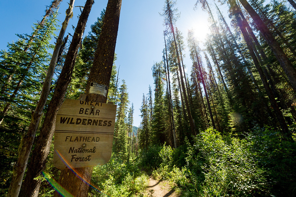 Great Bear Wilderness Flathead National Forest sign