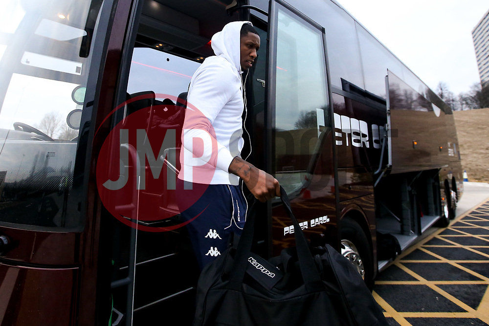 Fred Thomas of Bristol Flyers arrives at the Eagles Community Arena, for the BBL fixture against Newcastle Eagles - Photo mandatory by-line: Robbie Stephenson/JMP - 01/03/2019 - BASKETBALL - Eagles Community Arena - Newcastle upon Tyne, England - Newcastle Eagles v Bristol Flyers - British Basketball League Championship