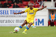 AFC Wimbledon Jimmy Abdou (8) passing the ball during the Pre-Season Friendly match between Ebbsfleet and AFC Wimbledon at Stonebridge Road, Ebsfleet, United Kingdom on 29 July 2017. Photo by Matthew Redman.