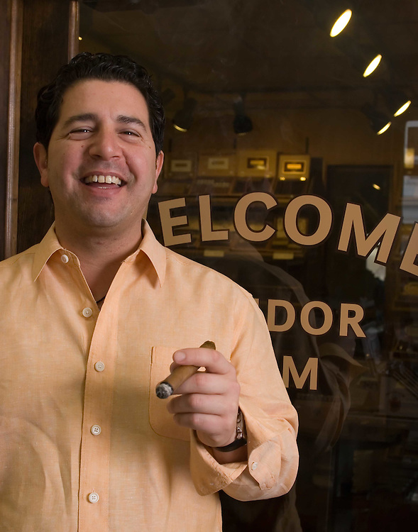 Josh DeSiena owner of Doc James Cigars and Golf in Mamaroneck, NY.