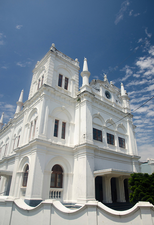 Exterior of the Meera mosque in Galle Fort, Sri Lanka