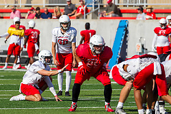 NORMAL, IL - August 14: Aidan Bresnahan during a college football pre-season scrimmage of the  ISU (Illinois State University) Redbirds August 14 2021 at Hancock Stadium in Normal, IL. (Photo by Alan Look)