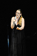 Ingrid Michaelson performs at The Music of R.E.M. at Carnegie Hall, a tribute concert to benefit musical education programs for underprivileged youth.