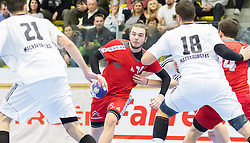 06.01.2017, BSFZ Suedstadt, Maria Enzersdorf, AUT, IHF Junior WM 2017 Qualifikation, Ungarn vs Österreich, im Bild Nikolaus Fuchs (AUT) // during the IHF Men's Junior World Championships qualifying match between Hungary and Austria at the BSFZ Suedstadt, Maria Enzersdorf, Austria on 2017/01/06, EXPA Pictures © 2017, PhotoCredit: EXPA/ Sebastian Pucher