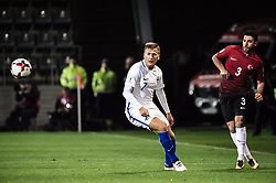 October 9, 2017 - Turku, Finland - Ismail Koybasi (R) of Turkey and Robin Lod of Finland vie for the ball during the FIFA World Cup 2018 qualifying football match between Finland and Turkey in Turku, Southern Finland on October 9, 2017. (Credit Image: © Antti Yrjonen/NurPhoto via ZUMA Press)