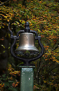 Old train bell from a train in 1914, when the railroad was being built from Eugene, Oregon to Coos Bay.