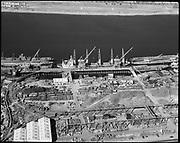 "Ackroyd 16218-1 ""Portland aerials. August 21, 1969"". scrapping at Schnitzer yard on Portland Waterfront"