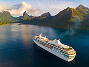 Paul Gauguin Cruise Ship, Moorea, Tahiti, French Polynesia, South Pacific