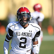 Quan Bray during the practice session at the Walt Disney Wide World of Sports Complex in preparation for the Under Armour All-America high school football game on December 3, 2011 in Lake Buena Vista, Florida. (AP Photo/Alex Menendez)