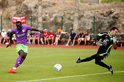 Famara Diedhiou of Bristol City scores his sides second goal  - Mandatory by-line: Matt McNulty/JMP - 22/07/2017 - FOOTBALL - Tenerife Top Training - Costa Adeje, Tenerife - Bristol City v Atletico Union Guimar  - Pre-Season Friendly