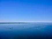 Nederland, Noord-Holland, Pampus, 02-09-2020; IJmeer, IJsselmeer met  Almere (Almere-Pampus en Pampus-Poort) in de achtergrond.<br /> IJmeer, IJsselmeer.<br /> luchtfoto (toeslag op standard tarieven);<br /> aerial photo (additional fee required);<br /> copyright foto/photo Siebe Swart