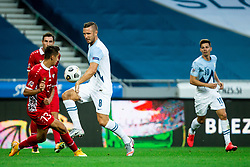 Mihail Caimacov of Moldova vs Jasmin Kurtic of Slovenia during the UEFA Nations League C Group 3 match between Slovenia and Moldova at Stadion Stozice, on September 6th, 2020. Photo by Vid Ponikvar / Sportida