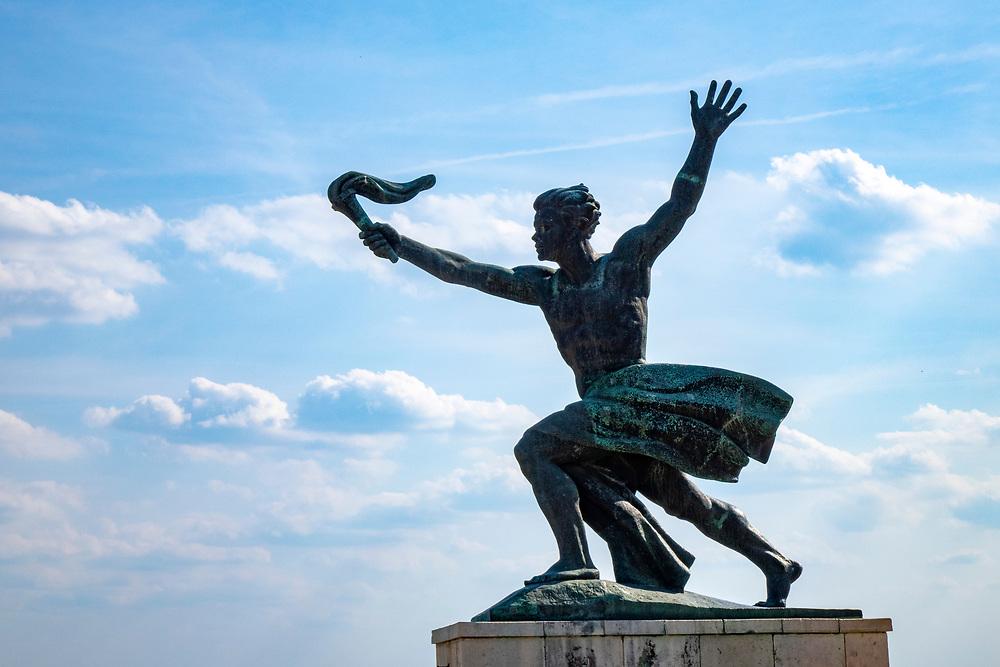 The Statue of a torch bearer on Gellert Hill