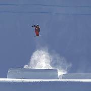 Klaus Finne, Norway, in action in the Slopestyle Finals during The North Face Freeski Open at Snow Park, Wanaka, New Zealand, 2nd September 2011. Photo Tim Clayton..