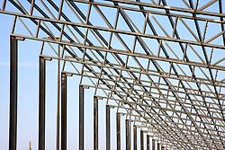 Impianto per la produzione di energia solare in via di costruzione nella zona industriale di Alessano (LE), dettaglio