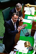 Opposition Leader Michael O'Brien takes aim at Daniel Andrews over the latest scandal to encompass his government during Question Time. Government in Crisis as secret tapes reveal industrial scale branch stacking and corruption accusations towards labor senior Minister Adem Somyurek, along with two other ministers Marlene Kairouz and Robin Scott. Premier Daniel Andrews sacked Mr Somyurek and both Ms Kairouz and Mr Scott later resigned. Premier Andrews denies any knowledge of the of the scandal and repercussions will ripple all the way up to the Federal Labor Party. (Photo by Dave Hewison/ Speed Media)