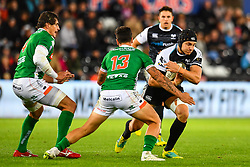 James King of Ospreys in action during todays match<br /> <br /> Photographer Craig Thomas/Replay Images<br /> <br /> Guinness PRO14 Round 4 - Ospreys v Benetton Treviso - Saturday 22nd September 2018 - Liberty Stadium - Swansea<br /> <br /> World Copyright © Replay Images . All rights reserved. info@replayimages.co.uk - http://replayimages.co.uk