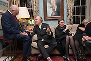 MORT JANCKLOW; ED VICTOR; BETH DE WOODY, Dinner to celebrate the opening of Pace London at  members club 6 Burlington Gdns. The dinner followed the Private View of the exhibition Rothko/Sugimoto: Dark Paintings and Seascapes.