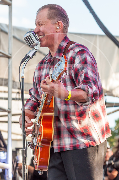 BALTIMORE United States - September 14, 2013: Jim Heath of The Reverend Horton Heat performs at The Shindig, in Baltimore's historic Carroll Park