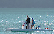 Aiguebelette, FRANCE.  Umpires Launch 09:37:00  Saturday  21/06/2014. [Mandatory Credit; Peter Spurrier/Intersport-images]