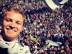 """Nico Rosberg releases a photo on Twitter with the following caption: """"""""Goodwood! 🙌🏻"""""""". Photo Credit: Twitter *** No USA Distribution *** For Editorial Use Only *** Not to be Published in Books or Photo Books ***  Please note: Fees charged by the agency are for the agency's services only, and do not, nor are they intended to, convey to the user any ownership of Copyright or License in the material. The agency does not claim any ownership including but not limited to Copyright or License in the attached material. By publishing this material you expressly agree to indemnify and to hold the agency and its directors, shareholders and employees harmless from any loss, claims, damages, demands, expenses (including legal fees), or any causes of action or allegation against the agency arising out of or connected in any way with publication of the material."""