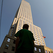 The Empire State Building in New York.