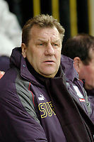 Photo: Leigh Quinnell.<br /> Watford v Stoke City. Coca Cola Championship.<br /> 14/01/2006. Stoke manager Johan Boskamp looks on.