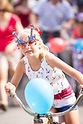 Residents of I'on community celebrate Independence Day with a bicycle and golf cart parade July 3, 2013 in Mt Pleasant, SC.