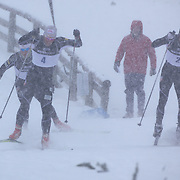 Andrew Newell, USA, (right), wins the Men's Sprint Free from team mate Kris Freeman, USA, during the Cross Country Sprint Competition at Snow Farm, New Zealand during the Winter Games. Wanaka, New Zealand, 14th August 2011. Photo Tim Clayton