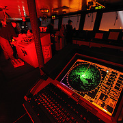 The radar screen on the Polar Sea Icebreaker glows green showing the crew what ice conditions are ahead. Beaufort Sea, Arctic Ocean