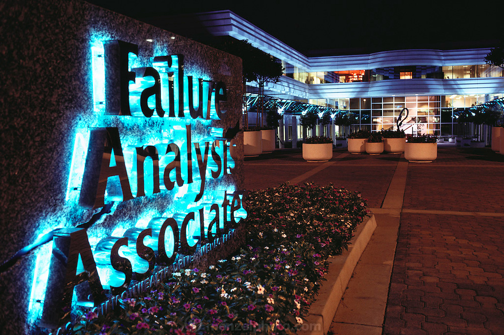 Failure Analysis Associates, Inc. (an engineering and scientific consulting firm now called Exponent. Menlo Park, California.