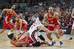 September 17, 2018 - Madrid, Madrid, Spain - Joaquim Colom  of Spain in action  during the 2019 FIBA Basketball World Cup qualification match between Spain and Latvia at WiZink Center in Madrid, Spain, 17 September 2018  (Credit Image: © Oscar Gonzalez/NurPhoto/ZUMA Press)